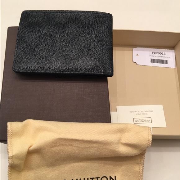 fed6824b Louis Vuitton damier graphite multiple wallet